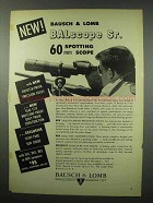 1951 Bausch & Lomb BALscope Sr. Scope Ad!