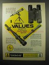 1970 Tasco Ad - #705 Target Scope; #663A Rangerscope +