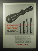 1970 Redfield Scopes Ad - 6x-18x; 1x-4x; 2x-7x; 3x-9x