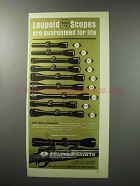 1970 Leupold Scopes Ad - Are Guaranteed For Life