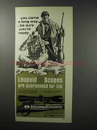 1970 Leupold Scopes Ad - Be Sure You're Ready