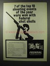 1970 Federal Cartridge Ad - 7 of Top 10 Shooting Events