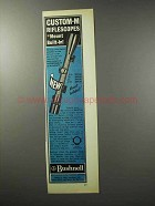 1970 Bushnell Custom-M Scope Ad - Mount Built-In!