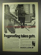 1970 Bausch & Lomb Scope Ad - Fogproofing