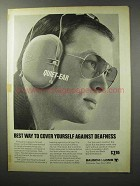 1970 Bausch & Lomb Quiet-Ear Hearing Guard Ad