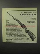 1970 Interarms Walther KKJ Rifle Ad