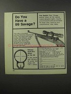 1970 Williams Gun Sight Ad - Do You Have a 99 Savage?