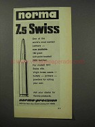 1970 Norma 7.5 Swiss Cartridge Ad