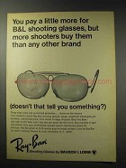 1969 Ray-Ban Shooting Glasses Ad - More Shooters Buy