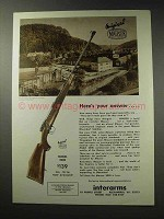 1969 Interarms Mauser Model 2000 Rifle Ad - Your Answer