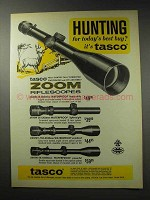 1969 Tasco Scopes Ad - #620W; 610W; 612W; 616W