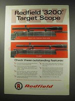 1969 Redfield 3200 Target Scope Ad - Features