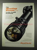 1969 Redfield Scopes Ad - The Hunting Scene