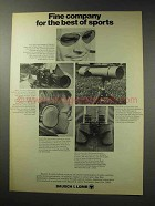 1969 Bausch & Lomb Optical Products Ad - Best Sports