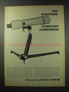 1969 Bausch & Lomb Balscope Spotting Scope Ad