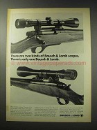 1969 Bausch & Lomb Scopes Ad - There are Two Kinds