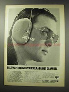 1969 Bausch & Lomb Quiet-Ear Hearing Guard Ad
