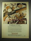 1969 Browning Automatic Shotgun Ad - Symphony of Steel