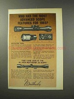1969 Weatherby Scopes Ad - The Most Advanced