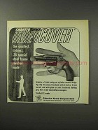 1969 Charter Arms Undercover Revolver Ad - Smallest