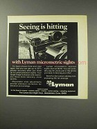 1969 Lyman Micrometic Sights Ad - Seeing is Hitting