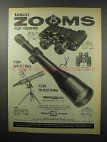 1968 Tasco Ad, #108 Electric Zoom Binocular, #600 Scope