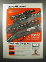 1968 Redfield Scopes Ad - Why Low Power?
