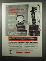 1968 Redfield Scopes Ad - Your Variable Can Take It