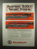 1968 Redfield 3200 Target Scopes Ad - Outstanding
