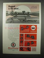 1968 Redfield Scopes and Mounts Ad - Rugged