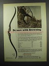 "1968 Browning 50"" Cobra Bow Ad - Be Sure With Browning"