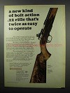 1968 Browning T-2 Rifle Ad - Twice as Easy to Operate