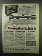 1968 Bushnell Scopes Ad - The Mount's Built In