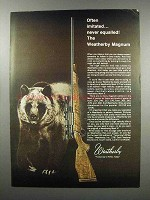 1968 Weatherby Mark V Magnum Rifle Ad - Imitated