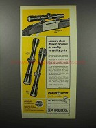 1968 Weaver v4.5, v7 and v9 Scopes Ad - Quality