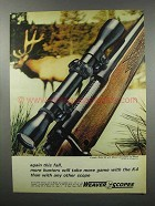 1968 Weaver K4 Scope Ad - Again This Fall