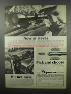 1968 Lyman Sights and Cutts Compensator Ad