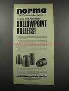 1968 Norma Hollowpoint Bullets Ad - Consistent