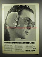 1968 Bausch & Lomb Quiet-Ear Hearing Guard Ad