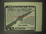 1968 Erma M22 Carbine Ad - Exciting New .22 Cal.