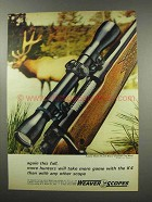 1967 Weaver K4 Scope Ad - Again This Fall