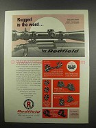 1967 Redfield Scopes and Mounts Ad - Rugged