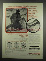 1967 Redfield Accu-Range Variable Scopes Ad