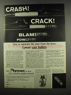1967 Lyman Cast Bullets Ad - Separate Men from Boys