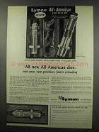 1967 Lyman All-American Dies Ad - Precision Reloading