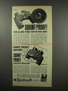 1967 Bushnell Featherlight II and Compact Binoculars Ad