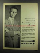 1967 Bausch & Lomb Scopes Ad - Invented Variable-Power