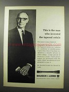1967 Bausch & Lomb Scopes Ad - Invented Tapered Reticle