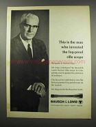 1967 Bausch & Lomb Ad - Invented Fog-Proof Rifle Scope