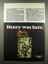 1967 Winchester Western 22 Ammo Ad - Henry was Here